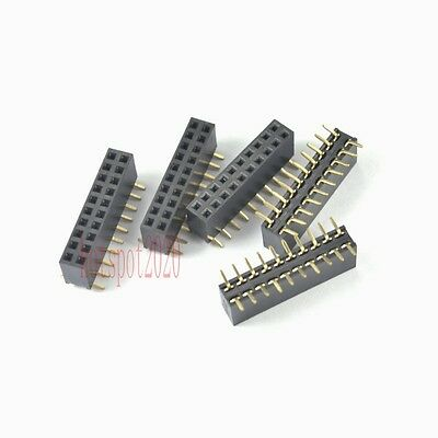 20pcs 2.54mm Pitch 2x10 20pin Header Strip Double Row Smtsmd Female Pcb Board