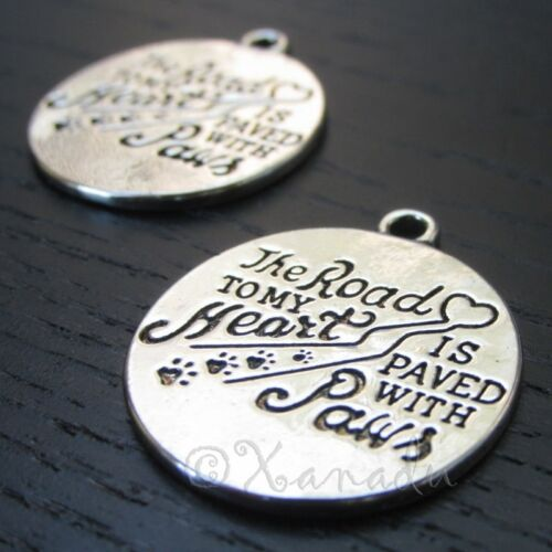 Pet Owner Charms - 29mm Antiqued Silver Plated Pendants C8931 - 2, 5 Or 10PCs