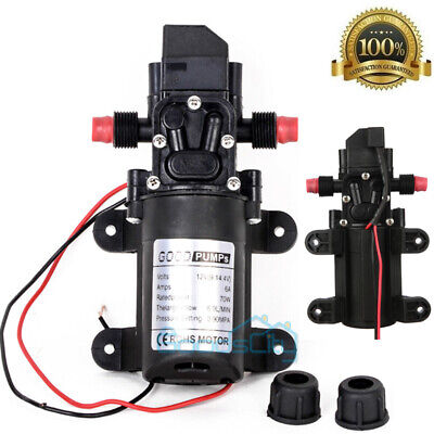 Dc12v 130psi 70w Marine Water Pump High Pressure Boats Rvs Lawn Sprayers