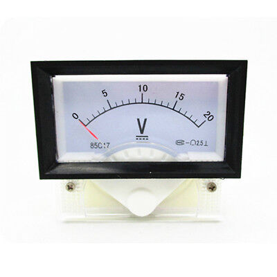 New Dc 0-20v Analog Dial Panel Meter Voltmeter Gauge Voltage Meter 7060