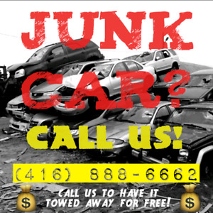 TOP CASH FOR ALL SCRAP JUNK CARS, BEST PRICE & FREE TOW