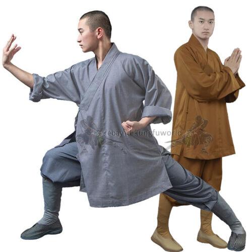 Shaolin Monk Robe Kung fu Uniform Buddhist Meditation Tai chi Suit Beautiful