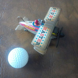Vintage Stunt Master Tin & Plastic Wind-Up Toy Plane Kitchener / Waterloo Kitchener Area image 2