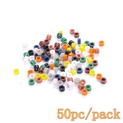 50pc/pack Dental Autoclavable Silicone Instrument Color Code Rings Band (5 Band Color Code)