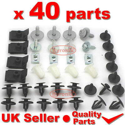 TOYOTA AVENSIS ENGINE UNDERTRAY COVER CLIPS BOTTOM TRAY SHIELD GUARD SCREWS T25