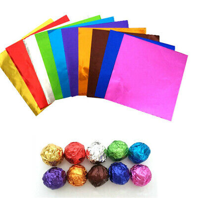 100XSquare Foil Wrappers For Candy Chocolate Sweets Confectionary 3
