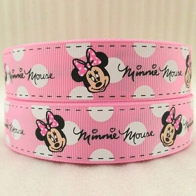 1 Inch Minnie Mouse Pink Grosgrain - Minnie Mouse Ribbon