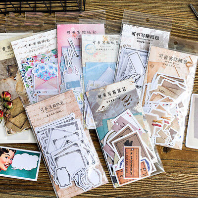 45pcs Vintage Memories Writable Paper Crafts Notebook DIY Scrapbooking Stickers  (Diy Notebook)