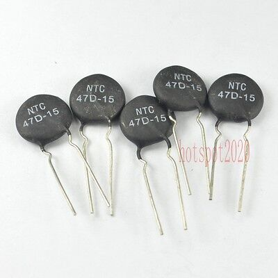 10pcs Ntc 47d-15 Power Ntc Thermistor Surge Current Limiting For Welder Repair