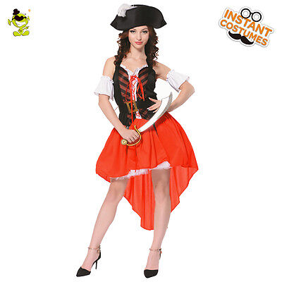 New Adult Swashbuckler Sexy Women Pirate Fancy Dress Role Cosplay for Halloween](Pirate Halloween Costumes For Adults)