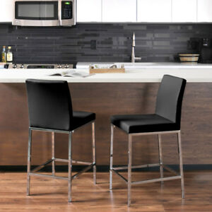 *new* Huntington Modern Counter Height Bar Stool  - Black