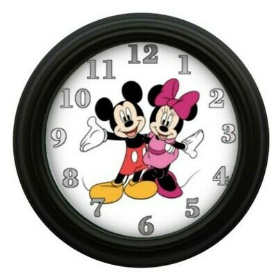 Mickey & Minnie Mouse Clock Kids Room Decor Bedroom Decor