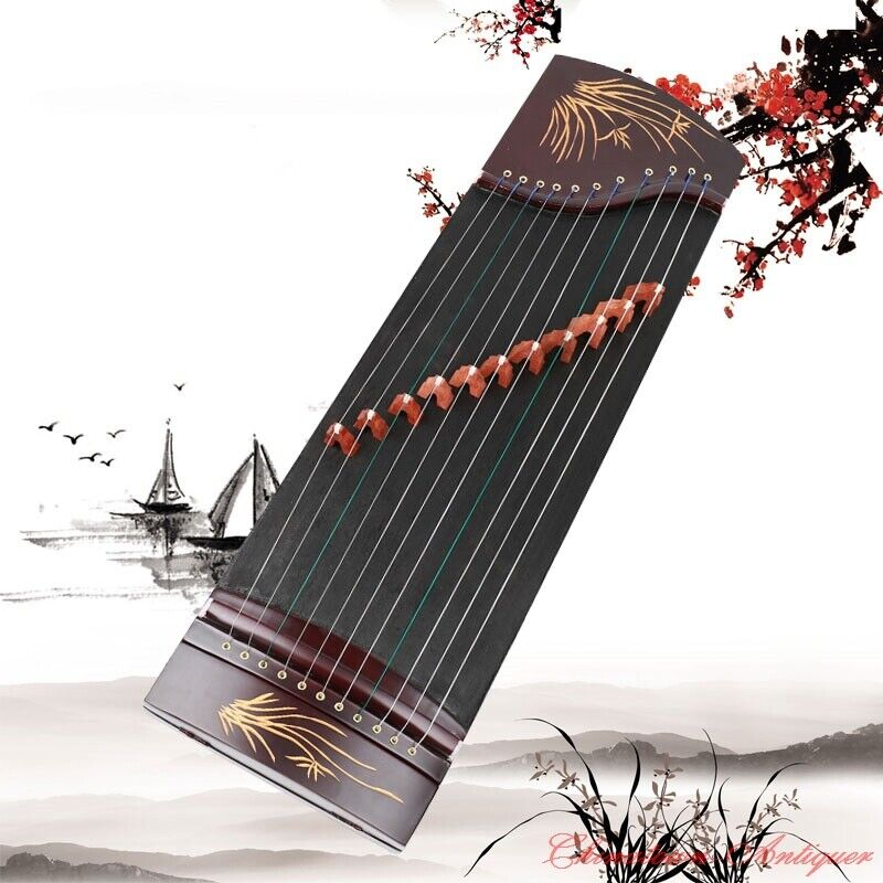 "17"" 9-String Guzheng Chinese Zither Harp Koto Fingering Practice Training #1471"