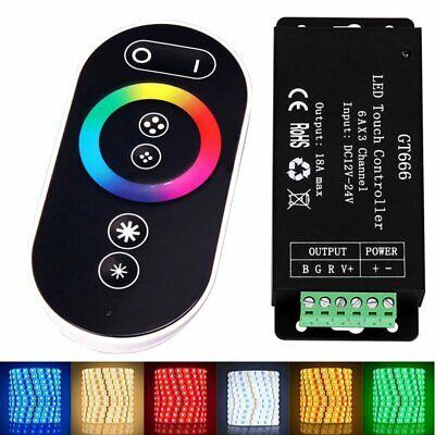 GT666 RF LED RGB Controller 18A Touch Radio Control unit Wireless + Remote Contr Wireless Remote Controller