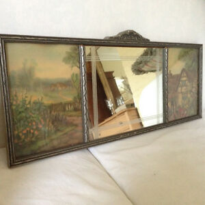Beautiful Antique Solid Wood Mirror, excellent condition...$20