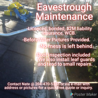 Eavestrough Cleaning and Maintenance Winnipeg