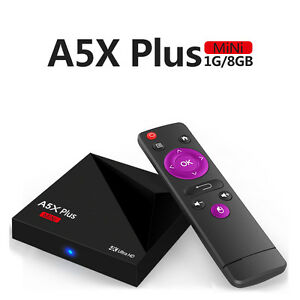 A5X Plus Android 7.1 OS TV Box Quad Core set top box support 4k