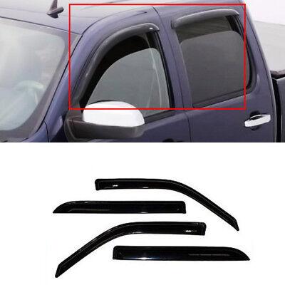 4pcs Vent Shade Window Visor For Dodge 09/10-15 Ram Crew/Mega Cab Sun/Rain