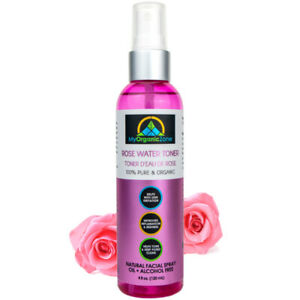 Rose Water Toner for Skin, Face & Hair, Pure Moroccan Rosewater
