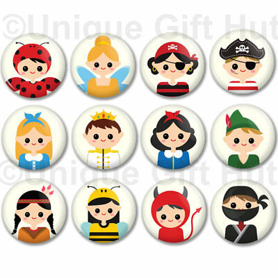Cute Fairy Tale Character Magnets Kids in costume, 1.25