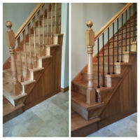 Staircase and floors installation