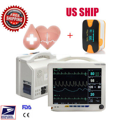Icu Ccu 6-para Medical Patient Monitor Arrhythmia Analysis Cardiac Monitor Us