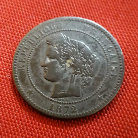 1872 Old French coin