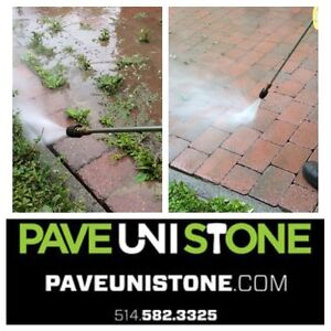 HIGH PRESSURE CLEANING - CONCRETE - PAVERS - UNISTONE - DRIVEWAY West Island Greater Montréal image 2