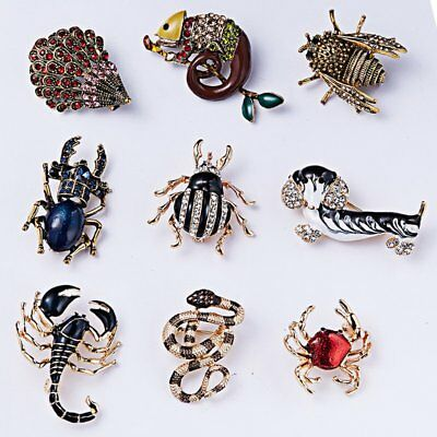 Fashion Women Crystal Dog Snake Bee Animal Brooch Pin Women Costume Jewelry New](Dog Costume For Women)
