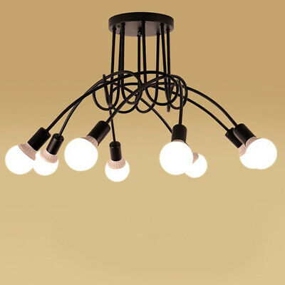 Loft 5 Light Chandelier - 3/5/8 Ways Edison Industrial Loft Iron Chandelier Pendant Ceiling Light Lamp