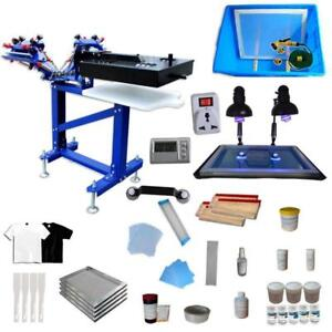 Micro-adjustable 3 Color Screen Printing Kit Screen Printer with Rotary Dryer 006896 Item number 006896