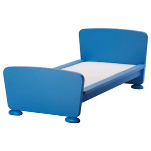 IKEA MAMMUT blue bed, dresser, table and chair - $1