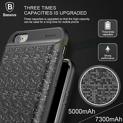 Extended Battery Pack Power Bank Charger Battery Case For iPhone 6 6S 7 8 Plus  (Power Plus Battery Pack)