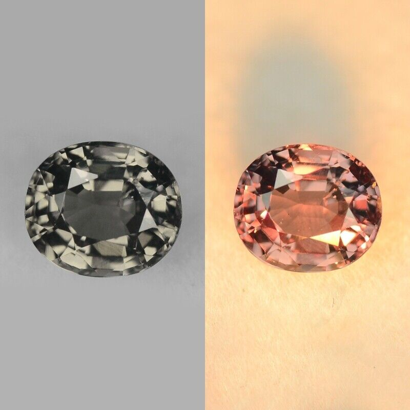 1.11 cts Red Orange Natural Loose Color Change Garnet | Gemstone Oval Shape