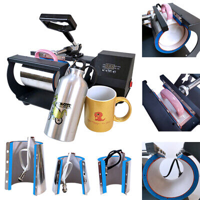 Combo 4in1 Mug Heat Press Transfer Sublimation Machine Latte 11-17oz Coffee Cup