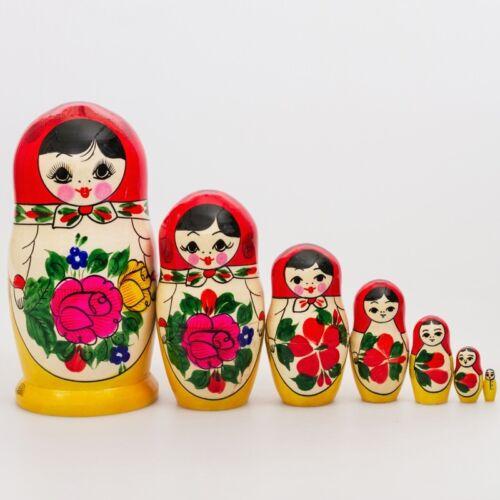 Russian Semenov Nesting doll Matryoshka 7 pcs. Hand painted in Russia 6.5