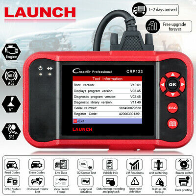 LAUNCH X431 Creader 123 PRO OBD2 EOBD Diagnostic Scanner Tool ABS Airbag SRS AT