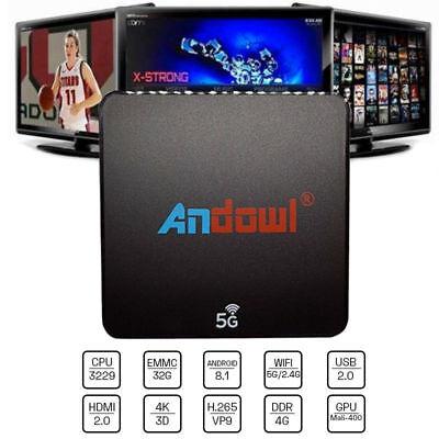 SMART TV BOX Q-M6 ANDROID 8.1 4K 4GB RAM 32 GB ROM IPTV 5G DUAL BAND