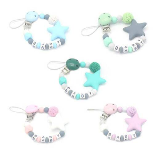 Anti-mute Silicone Pacifier Clip Chain with Baby Products