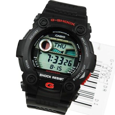 BRAND NEW CASIO G-SHOCK G7900-1 DIGITAL RESCUE BLACK/RED WATCH NWT!!!