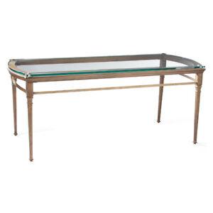 Ensemble tables console, table cafe et petite table en verre