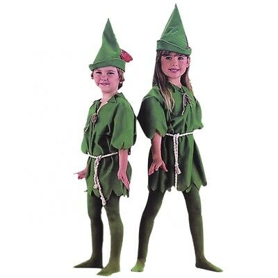 Child Robin Costume (NEW Peter Pan ELF Robin Hood Unisex Kids Child Cosplay Party Fancy Dress)