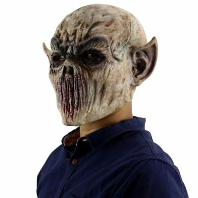 Horrifying Halloween Costumes (Mask Latex Horrifying Hat Halloween Masquerade Costume Party Festival Supplies )
