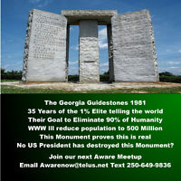 What are The Georgia Guidestones Built in 1981 in USA