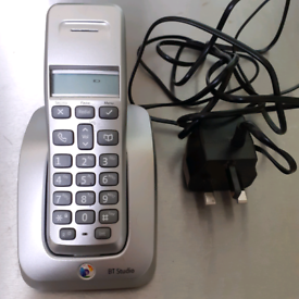 BT Studio 3500 Twin Additional Cordless phone and charging cradle