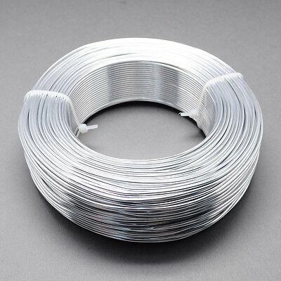 2mm Aluminium Craft Florist Wire Jewellery Making Silver 3m lengths