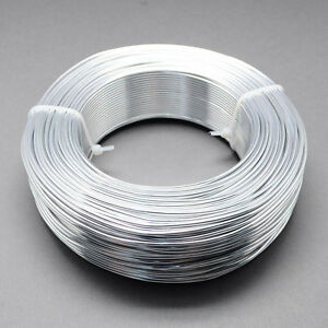 2mm Aluminium Craft Florist Wire Jewellery Making Silver 3m lengths