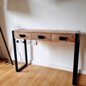 Mango wood desk/console table RRP£509