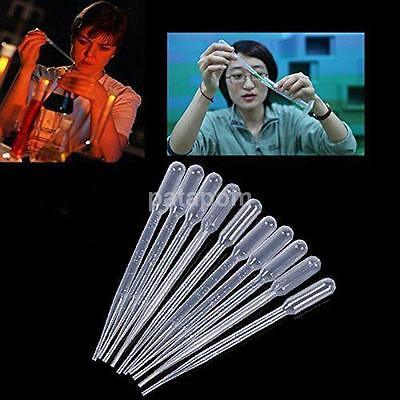 100 0.5ml Paint Pipettes Airbrush Plastic Eye Dropper Graduated Pipettes For Lab