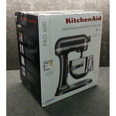 KitchenAid KP26M1XDP Pro 600 Series 6 Qt Bowl Lift Stand Mixer, Dark Pewter*